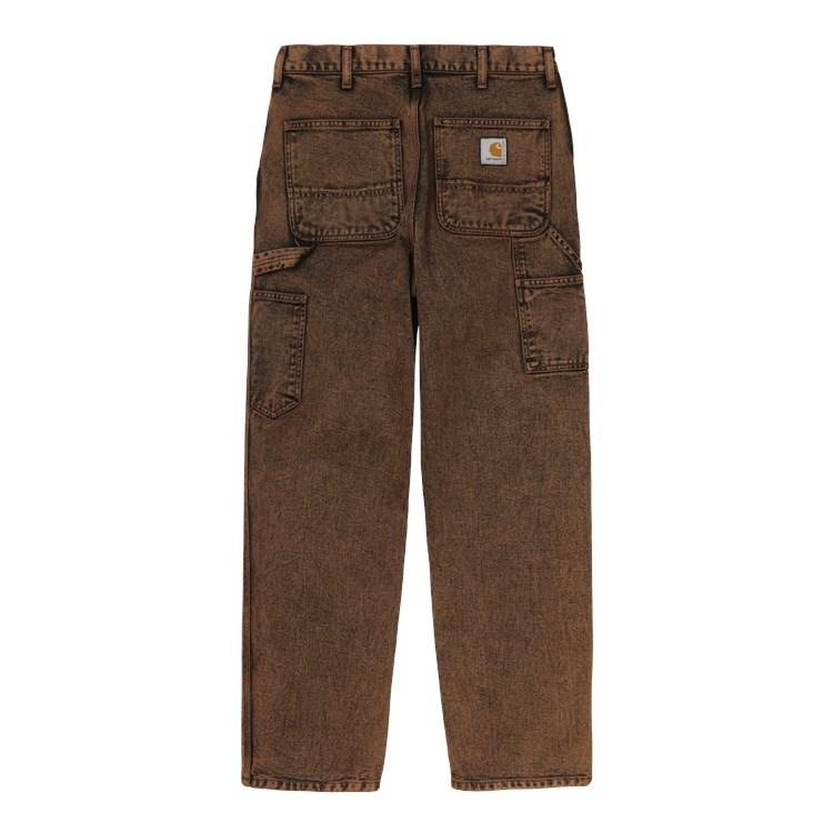 Carhartt WIP Single Knee Pant Org. Rum Crater Wash