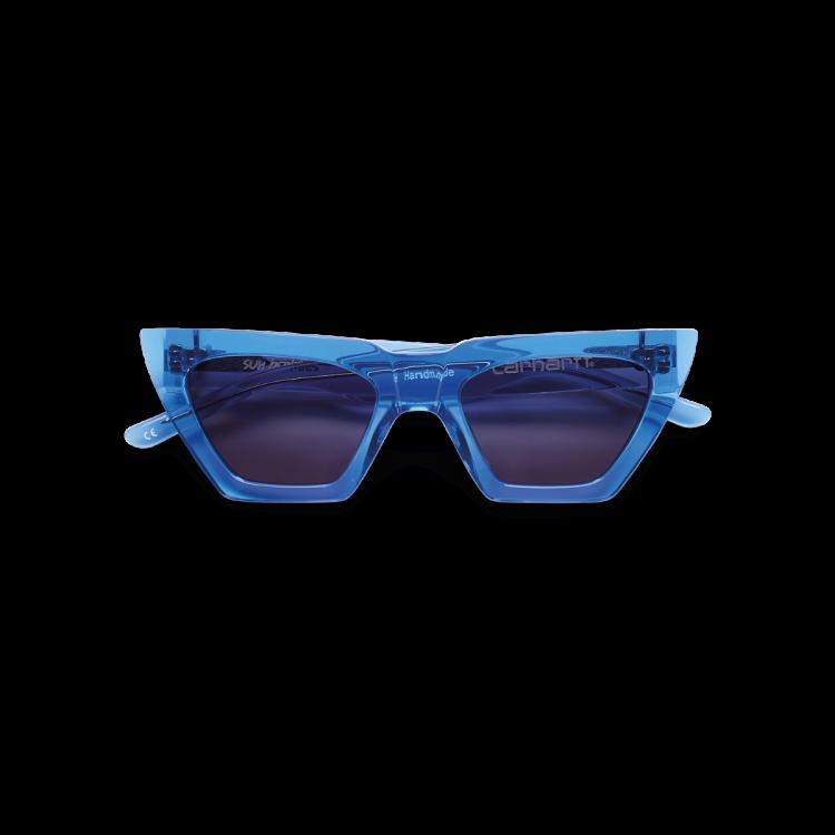 Carhartt WIP Grace Sunglasses Blue Translucent / Dark Grey