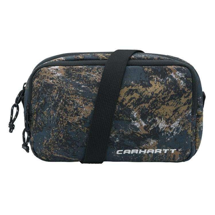 Carhartt WIP Terra Small Bag Satellite Print, Deep Lagoon
