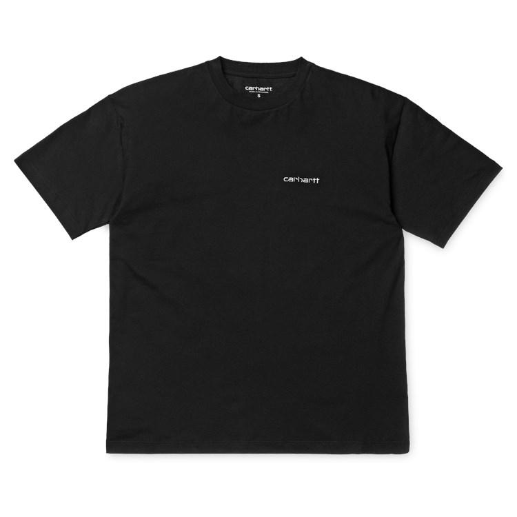 Carhartt WIP W' S/S Script Embroidery T-Shirt Black / White
