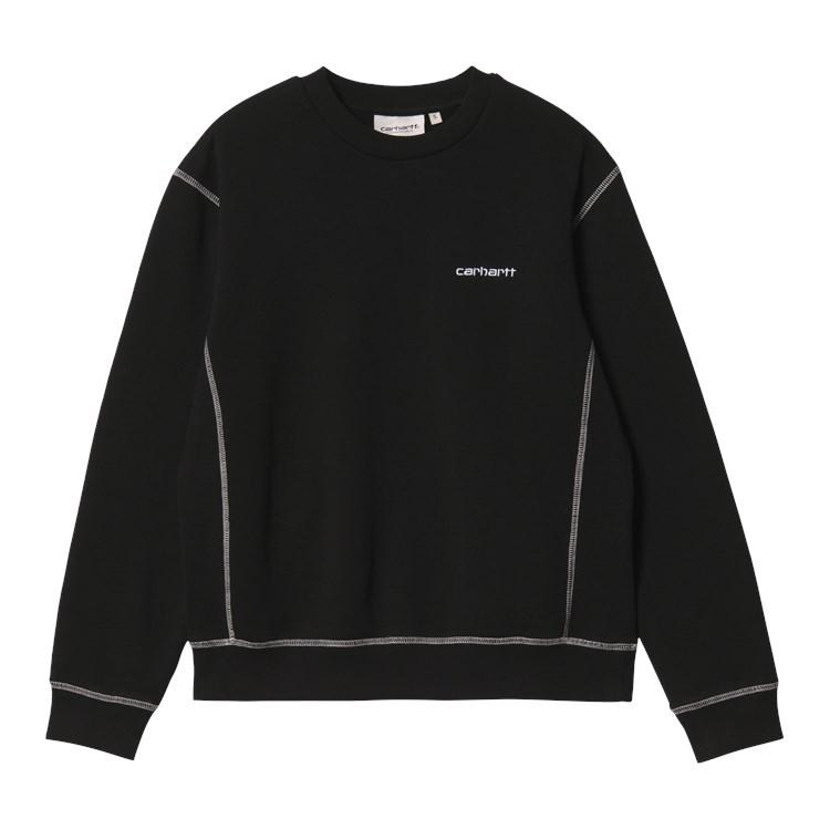 W' Albany Sweatshirt Black / Wax