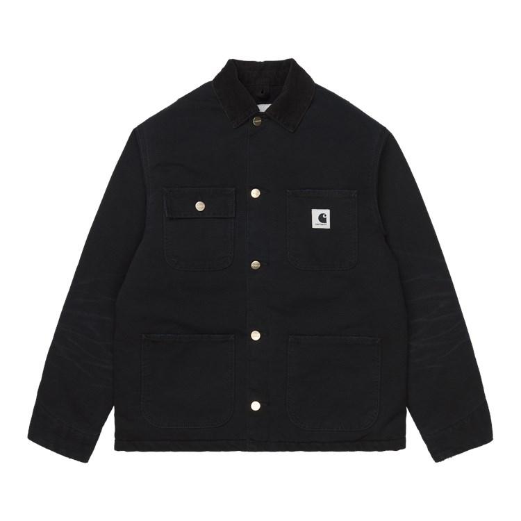 W' Irving Coat Black / Black Aged