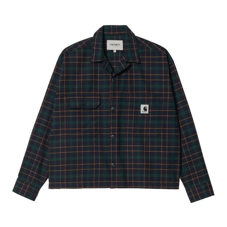 W' L/S Baxter Shirt Dark Navy / Grove