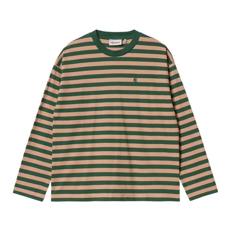 W' L/S Scotty T-Shirt Sediment / Bottle Green