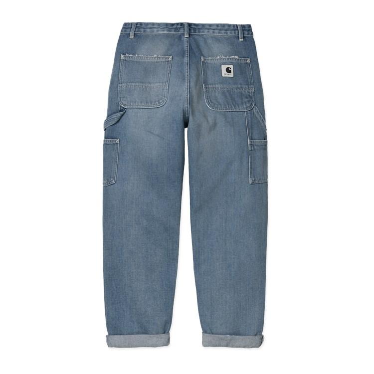 Carhartt WIP W' Pierce Pant Blue Mid Used Wash