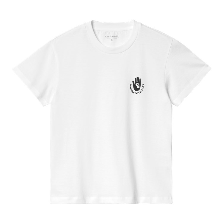 W' S/S Care T-Shirt White / Black