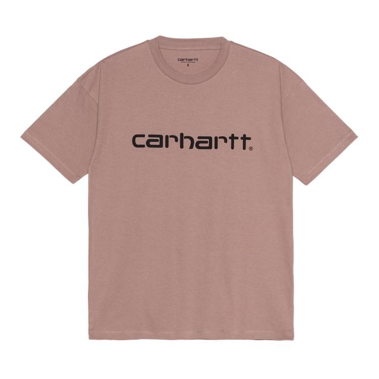 W' S/S Script T-Shirt Earthy Pink / Black