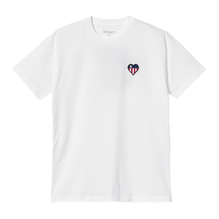 W' S/S State Flag Heart T-Shirt