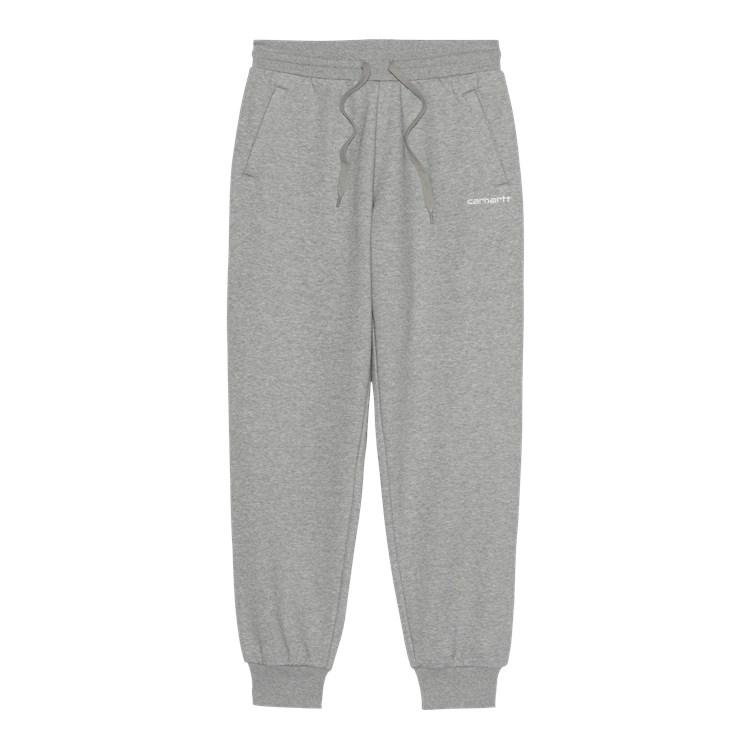 W' Script Embroidery Sweat Pant Grey Heather